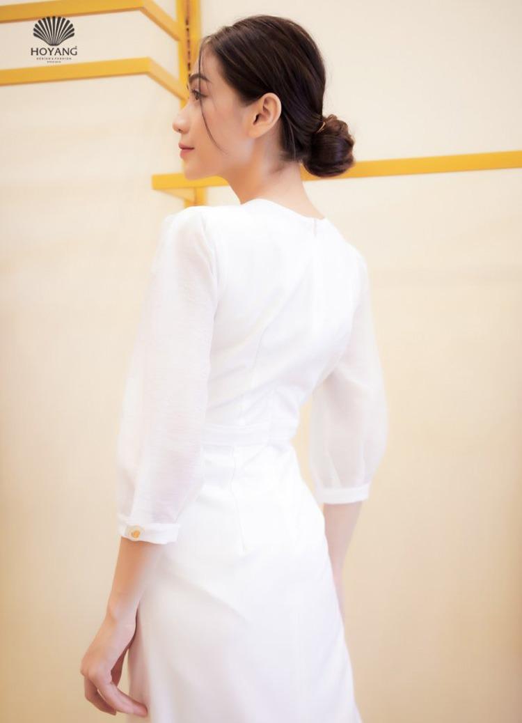 áo đầm tay dài thanh lịch