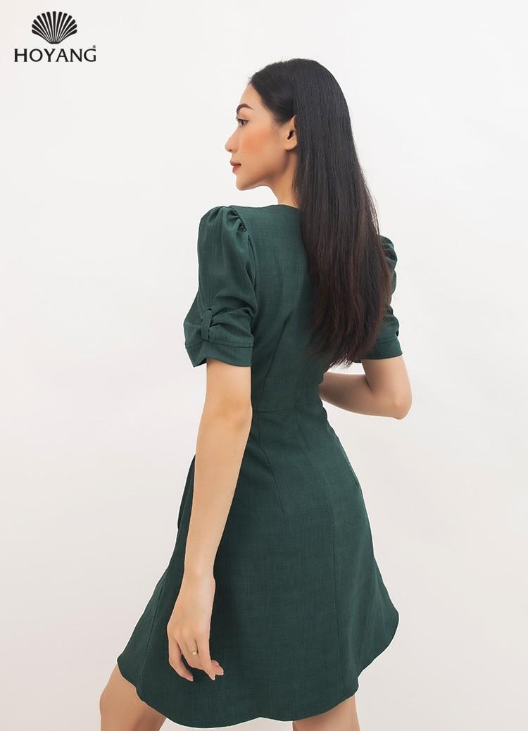đầm nữ đẹp xanh rêu